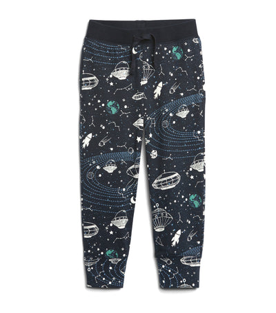 gap kids blue galaxy toddler print pull-on joggers