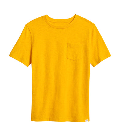 gap kids sunburst yellow pocket t-shirt