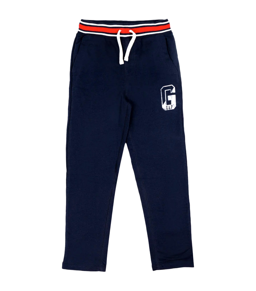 gap kids tapestry navy slim fit sweatpants