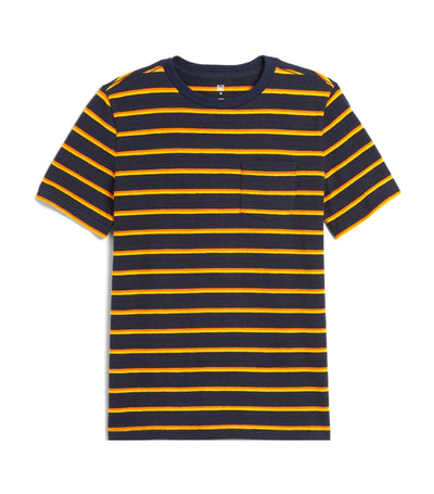gap kids blue galaxy stripe t-shirt