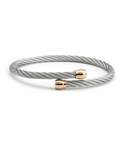 Celtic Sceau Bangle Gray and Gold