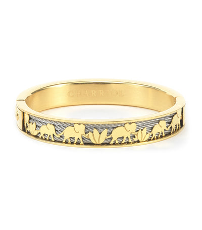 Forever Elephant Bangle Yellow Gold