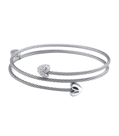 Crazy in Love Again Bangle Gray
