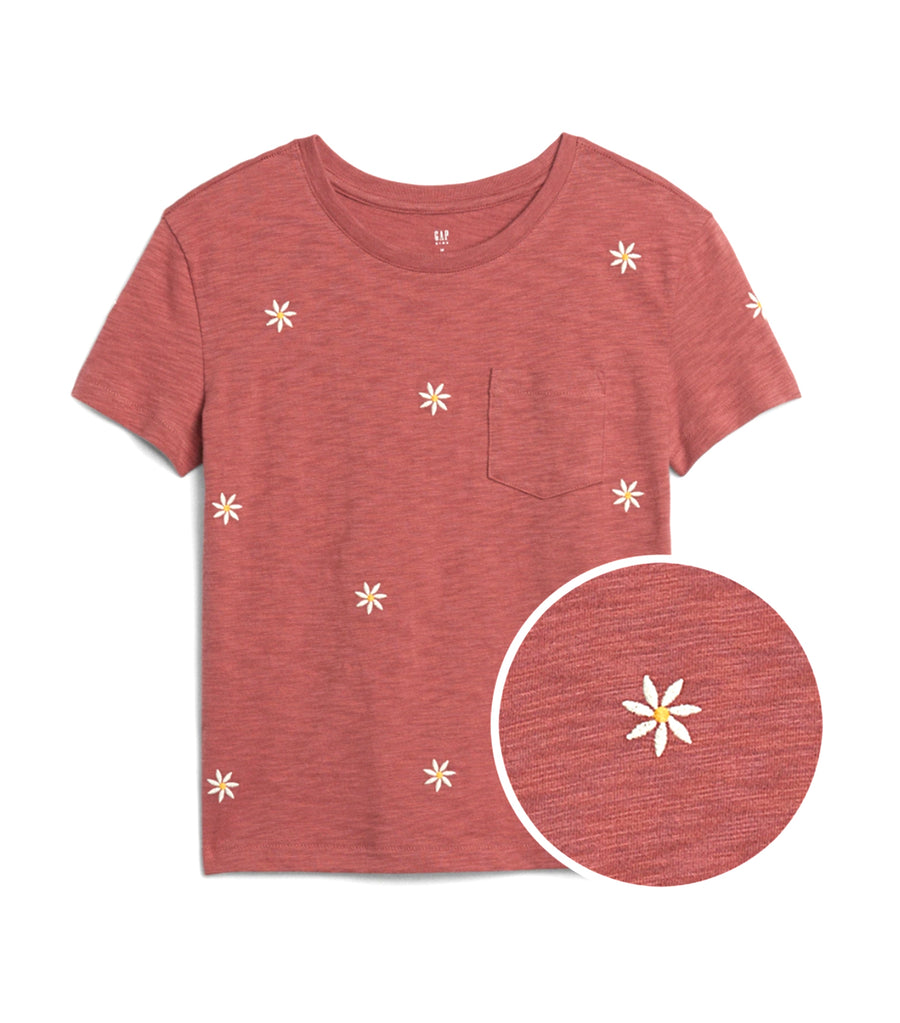 gap kids cosmetic pink print pocket t-shirt