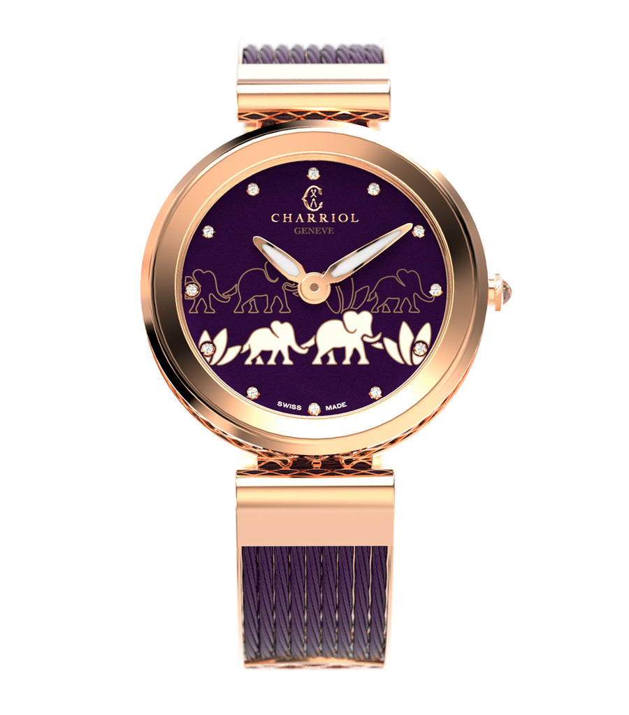 Forever Elephant Watch 32mm Prune