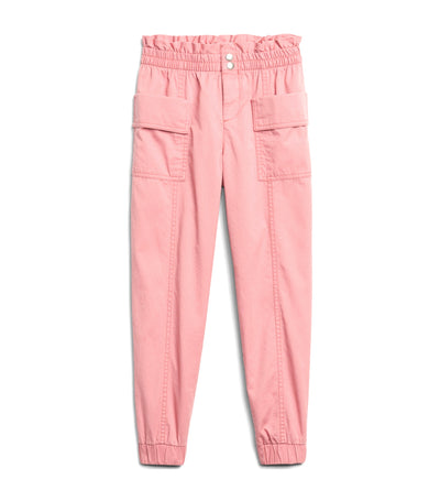 gap kids potpourri pink high-rise utility joggers