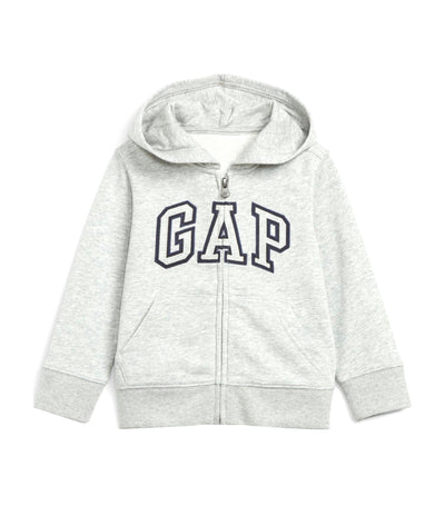 gap kids heather grey toddler gap logo hoodie sweatshirt