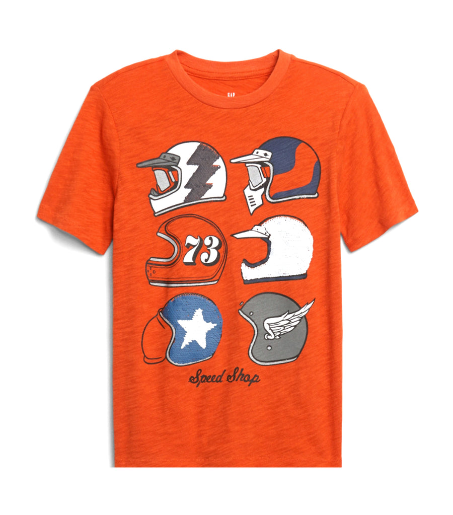 gap kids grenadine orange interactive graphic t-shirt