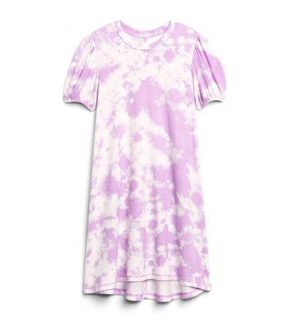 gap kids purple tie dye softspun trapeze dress
