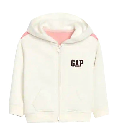gap kids off-white chalk toddler gap logo zip hoodie