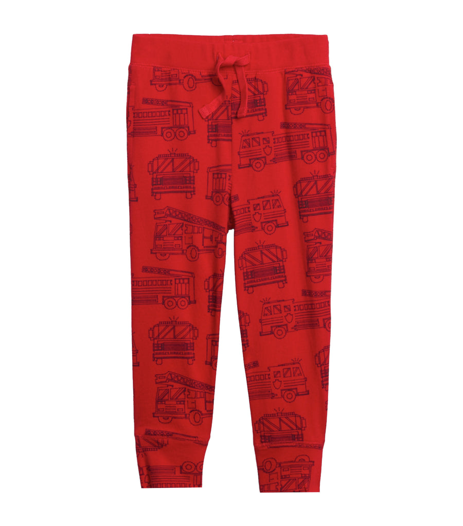 gap kids firetruck toddler graphic pull-on joggers