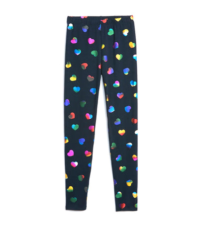 gap kids navy heart print leggings