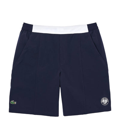 Men's Roland Garros Breathable Two-Tone Shorts Navy Blue
