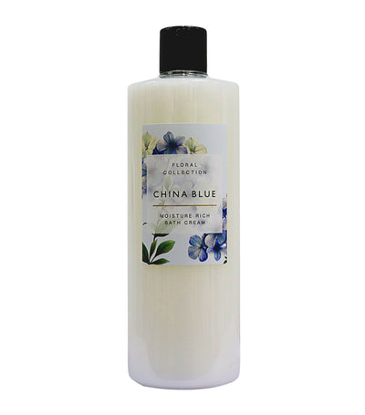 Floral Collection China Blue Bath Cream