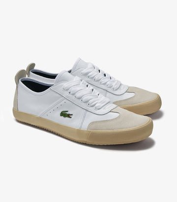 Men's Contest Leather and Suede Sneakers White/Off White