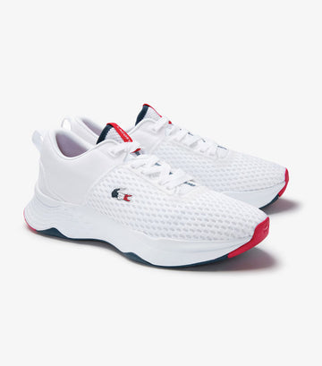 Men's Court Drive Tricolore Textile Trainers White/Navy/Red
