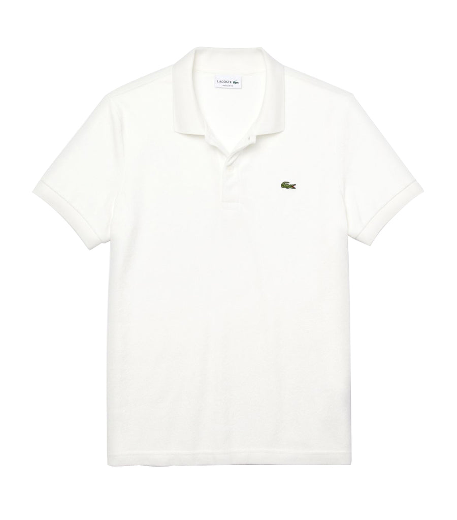 Men's Terry Cloth Polo Shirt Flour
