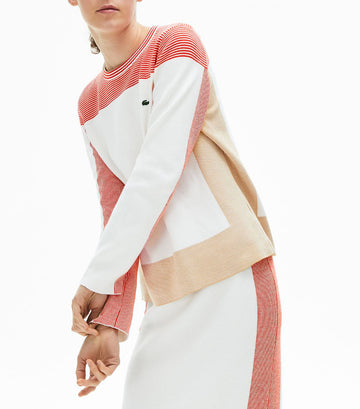 Women's Colorblock Knit Sweater Flour/Taffy/Corrida