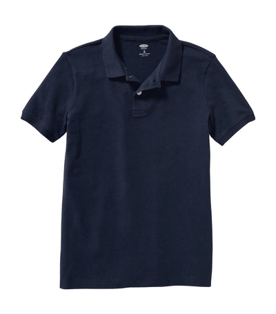 old navy kids ink blue uniform built-in flex pique polo