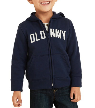 old navy toddler in the navy unisex logo-graphic zip hoodie