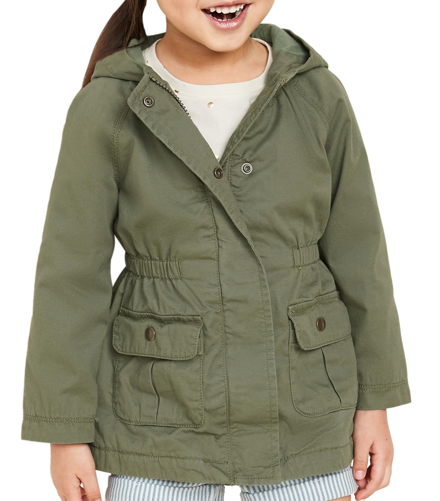 old navy toddler olive through this hooded twill utility scout jacket