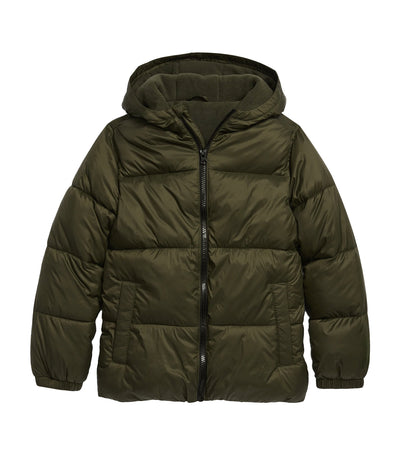 old navy kids frost-free hooded nylon puffer jacket - about thyme