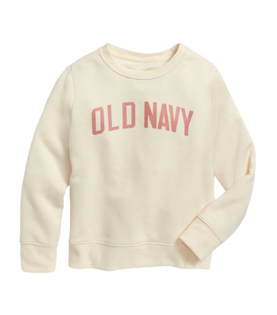 old navy kids multifloral crew-neck sweatshirt with logo print