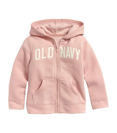 old navy toddler blush hue logo-graphic zip hoodie