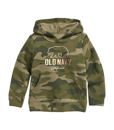 old navy toddler logo-graphic camo-print pullover hoodie