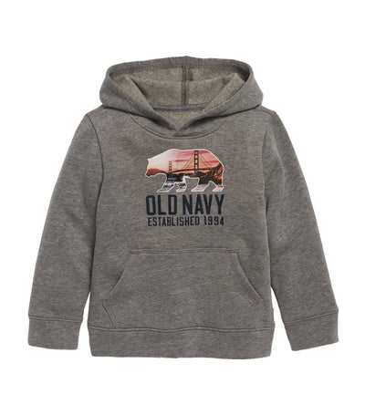 old navy toddler heather gray unisex logo-graphic pullover hoodie