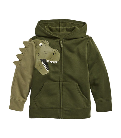 old navy toddler dino-critter zip hoodie