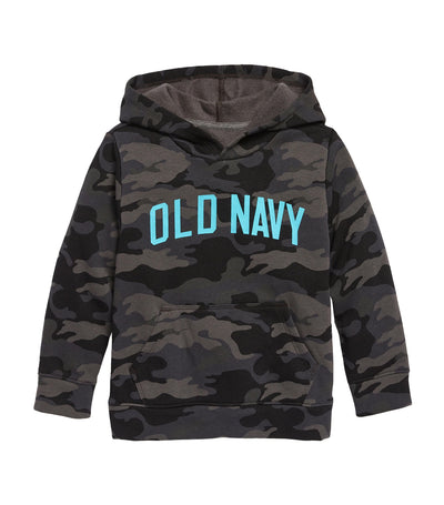 old navy toddler gray heather unisex logo-graphic pullover hoodie