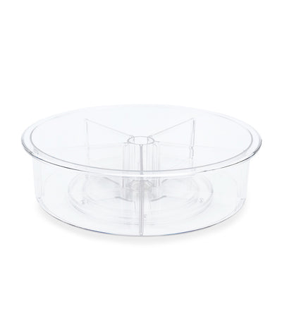MakeRoom Lazy Susan Turntable with Dividers