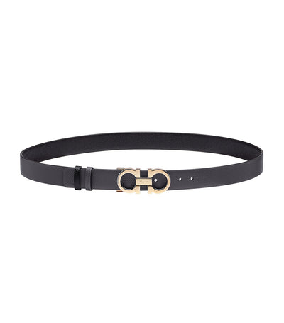 Reversible and Adjustable Gancini Belt Stromboli Sand/Black