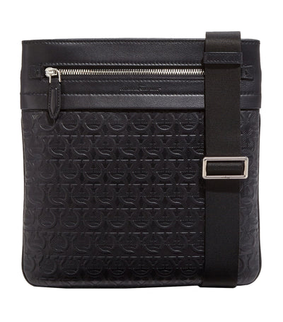Gancini Cross Body Bag Black