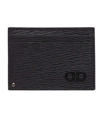 Gancini Credit Card Holder Black/Dark Rain