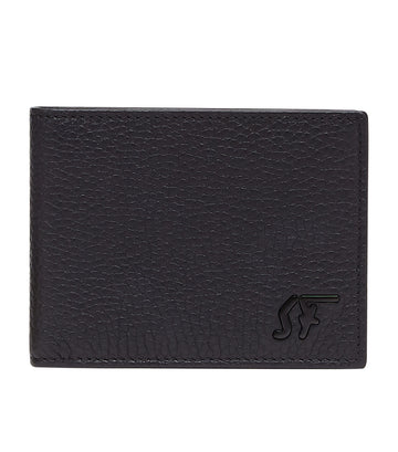 Signature Bi-Fold Wallet Black/Navy Blue