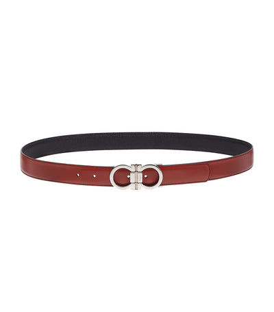 Reversible and Adjustable Gancini Belt Partagas/Black