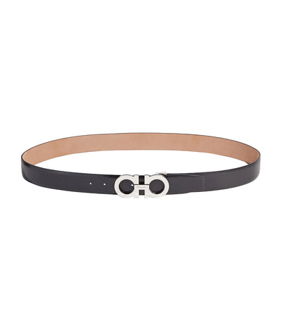 Adjustable Gancini Belt Black