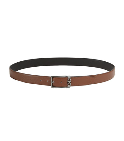Reversible and Adjustable Gancini Belt Radica/Black