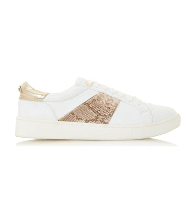 Edella Di White Lace Up Trainers