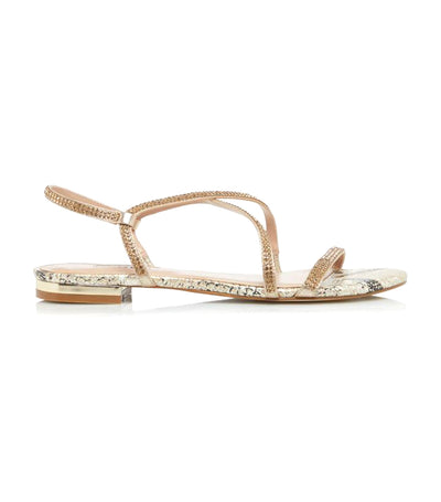 Nicci Di Embellished Barely There Strap Sandals Reptile