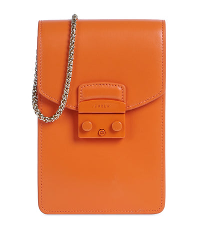 Metropolis Mini Vertical Crossbody Orange I