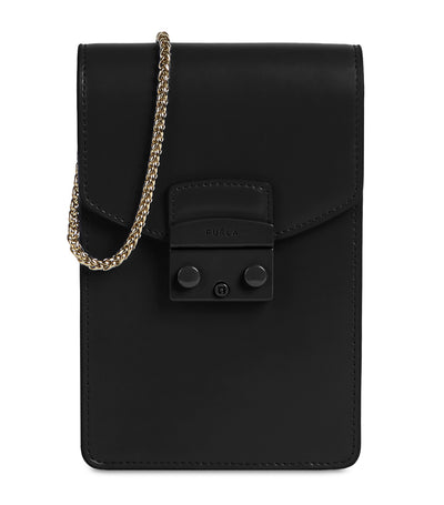 Metropolis Mini Vertical Crossbody Nero