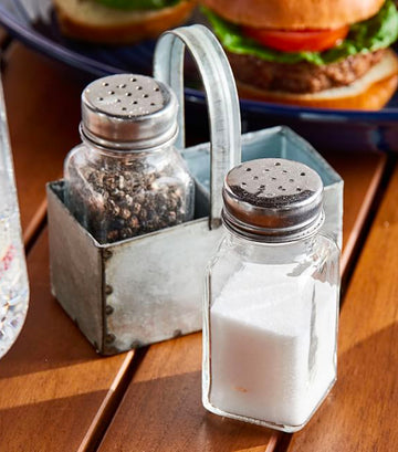 Pottery Barn Galvanized Salt & Pepper Shakers