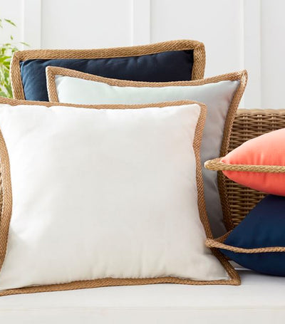 Pottery Barn Synthetic Jute Trim Pillow
