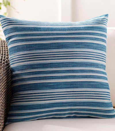 Pottery Barn Melilla Striped Indoor/Outdoor Pillow - Blue Multi