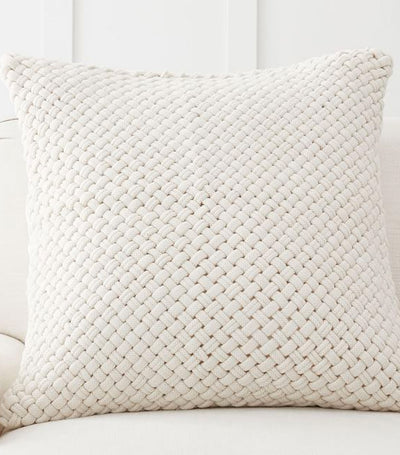 Pottery Barn Odette Handwoven Textured Pillow Cover