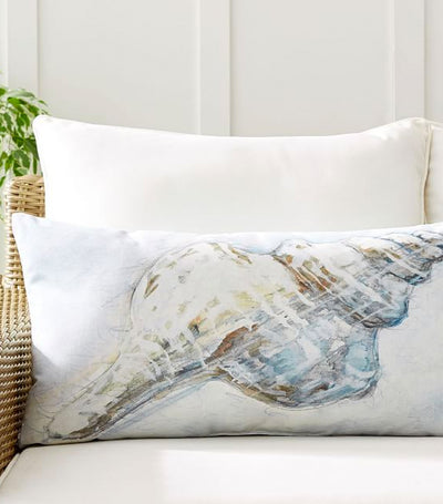 Pottery Barn Pacific Shell Printed Indoor/Outdoor Lumbar Pillow