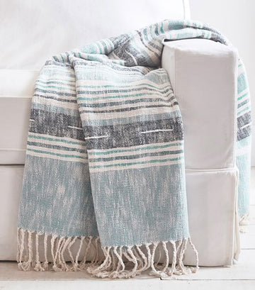 Pottery Barn Roxy Yarn Dye Throw